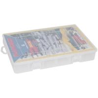 Plano Kleinteilebox mit Klappdeckel und Verschluss 6 feste Fächer