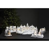 Weihnachtsszene TRAINVILLE Winterlandschaft mit fahrendem Zug