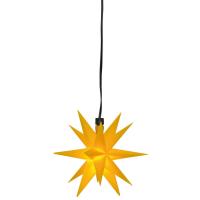 Sterntaler LED-Weihnachtsstern gelb mit Fernbedienung