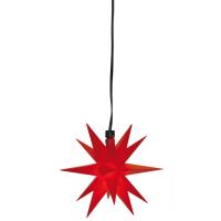 Sterntaler LED-Weihnachtsstern rot mit Fernbedienung