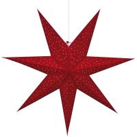 Mark Slöjd Weihnachtsstern Clara rot Samt