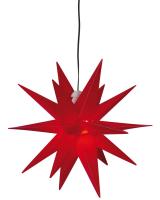 Weihnachtsstern, ww LEDs, Ø 25 cm, rot
