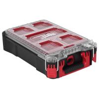MILWAUKEE Kleinteile-Koffer, Packout, Koffer inkl. 5 herausnehmbaren und stapelbaren Boxen
