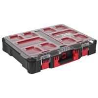 MILWAUKEE Kleinteile-Koffer, Packout, Koffer inkl. 10 herausnehmbaren und stapelbaren Boxen