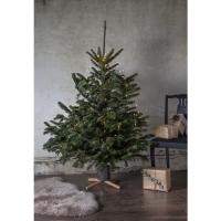 Christbaumständer, Weihnachtsbaumständer Granig, 3-11 cm, grau/Holz
