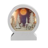 Hellum LED-3D-Rundbild Winterliche Kirche