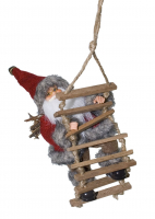 Weihnachtsmann Erwin mit Hängeschlaufe / Größe 18 cm