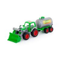 Wader Farmer Technic Traktor Frontschaufel Fassanhänger