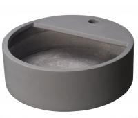 Ubbink Becken für Wasserspeier, Glasfaserbeton, Farbe blau-grau - H15 x Ø45 cm
