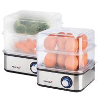 Eierkocher, Mini-Dampfgarer, 500W, bis 16 Eier