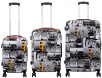 Kofferset 3 tlg. Trolleyset Reisekoffer Hartschale San Francisco