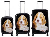 Kofferset 3 tlg. Trolleyset Reisekoffer Hartschale Beagle