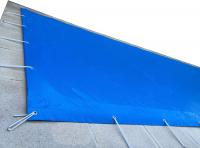 Ubbink Winter- und Sicherheitsplane - 550g - 350x650 cm - Norm NF P 90-308