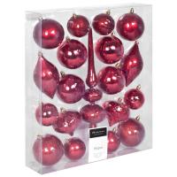 Weihnachtsbaumkugeln 19er-Set rot