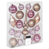 Weihnachtsbaumkugel, 19er-Set gold