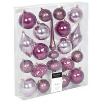 Weihnachtsbaumkugel 19er-Set rosa