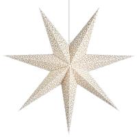 Mark Slöjd Weihnachtsstern Barque weiß-gold