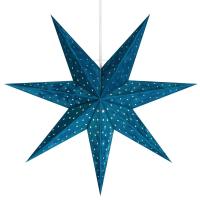 Mark Slöjd Weihnachtsstern Velours blau Samt