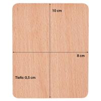 2 x Syntrox Holz Untersetzer für Raclette Pfännchen