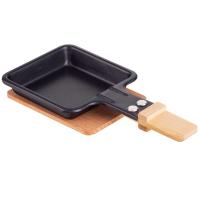 4 x Syntrox Holz Untersetzer für Raclette Pfännchen