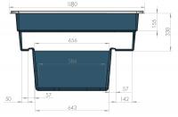 Ubbink QUADRA C1 - Fertigteich - HDPE, Fassungsvermögen 520 l
