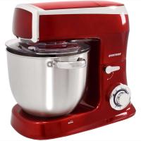 Syntrox Küchenmaschine Knetmaschine mit Fleischwolf und Mixer - rot