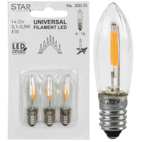 3 x Star Trading LED-Filament-Topkerze klar