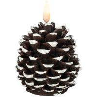 Star Trading LED-Echtwachskerze Flamme Cone