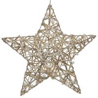 Weihnachtsleuchter Stern Gold 20 warmweiße LEDs
