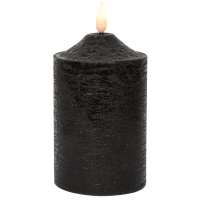 Star Trading LED-Echtwachskerze Flamme schwarz