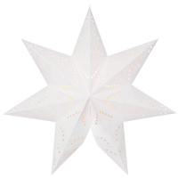 Star Trading Weihnachts-Hängestern Ersatzstern Sensy Papier weiß