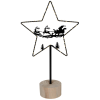 Weihnachtsleuchter Glimta Stern mit 50 warmweißen LEDs