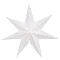 Star Trading Weihnachts-Hängestern Sensy Ersatzstern Papier weiß