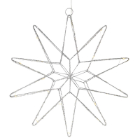 Mark Slöjd LED-Stern Gleam 20 warmweiße LEDs silber