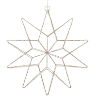 Mark Slöjd LED-Stern Gleam 20 warmweiße LEDs gold