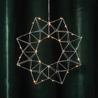 LED-Weihnachtsstern Edge 30 warmweiße LEDs silber