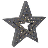 LED-Weihnachtsterne 2er Set grau