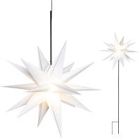 Sterntaler Weihnachtsstern warmweiße LED mit Erdspieß