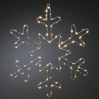Konst Smide LED-Schneeflocke 100 bernsteinfarbene LEDs
