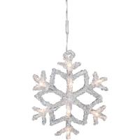 Konst Smide LED-Vorhang Schneeflocken