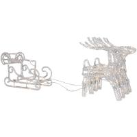 111 Konst Smide Rentiere mit Schlitten 96 warmweiße LEDs