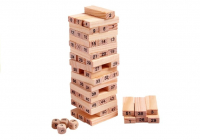 Stapelturm Wackelturm Stapelspiel Holz JENGA Geschicklichkeitsspiel