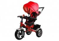 Dreirad PRO600 Rot Lenkstange Dreirad Sonnenschutzdach Stoßdämpfer Dreirad