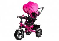 Dreirad PRO600 Rosa Lenkstange Sonnenschutzdach Stoßdämpfer Dreirad