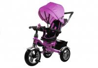 Dreirad PRO600 Violett Lenkstange Sonnenschutzdach Stoßdämpfer Dreirad