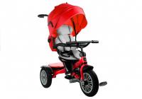 Dreirad PRO800 Rot Lenkstange Sonnenschutzdach Korb Kinderdreirad