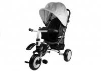 Dreirad PRO400 Silbern Liegefunktion Lenkstange Schaumstoffräder Kinderdreirad