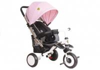 Dreirad PRO400 Rosa Liegefunktion Lenkstange Schaumstoffräder Kinderdreirad