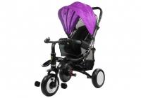 Dreirad PRO400 Violett Liegefunktion Lenkstange Schaumstoffräder Kinderdreirad