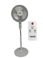 Ventilator Vento Standventilator 40 cm 40W Weiß Windmaschine Luftkühler